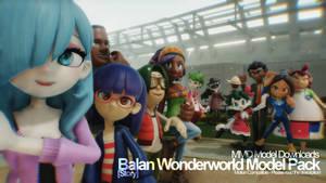 [MMD] Balan Wonderworld Model Pack - Story