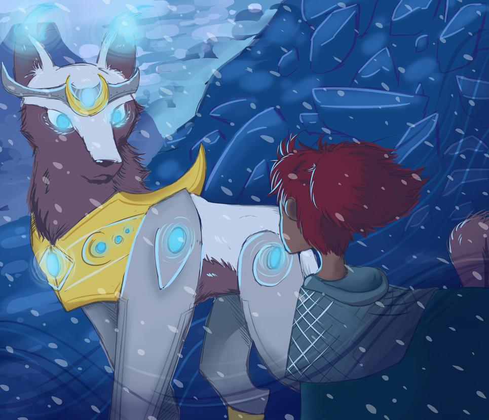 The snowmountain gardian by PalosCheco