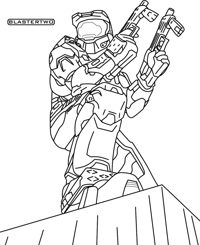 Master chief lines by blastertwo on deviantart for Master chief coloring pages