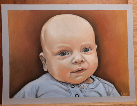 nephew in pastel