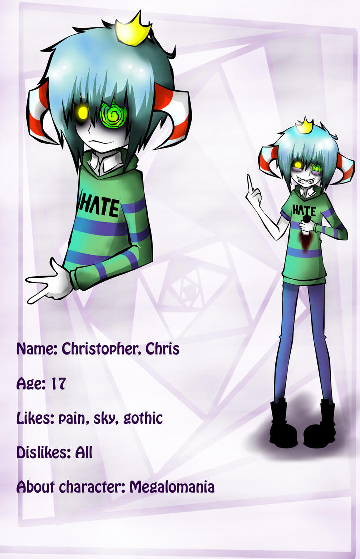 OC card Christopher by ren-danny