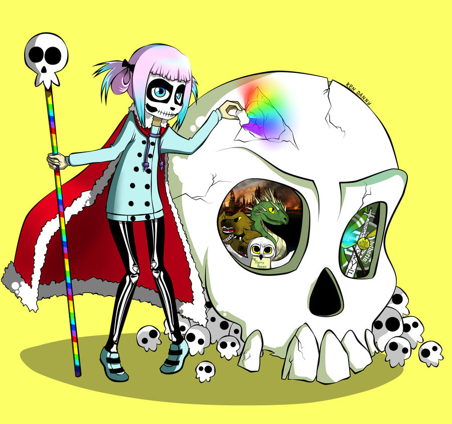 skull girl by ren-danny