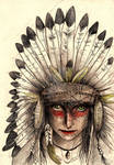 Indian's glare by Miorlau