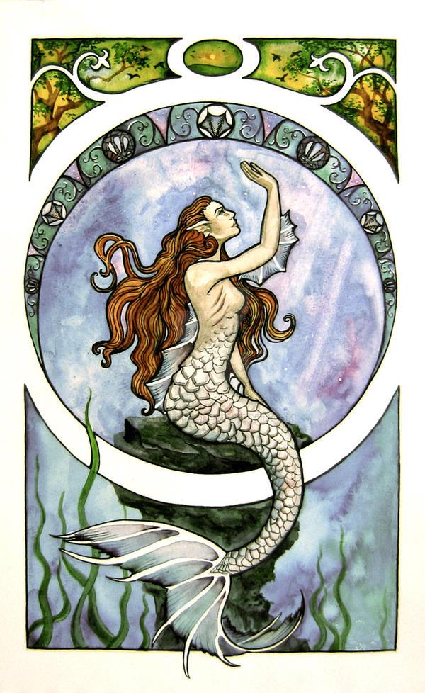 Art Nouveau Mermaid by Farothiel