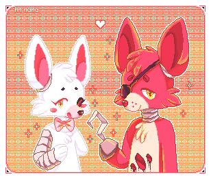 mangle+foxy by hn-nana