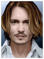 Johnny Depp -vectorized- by xluluhimex