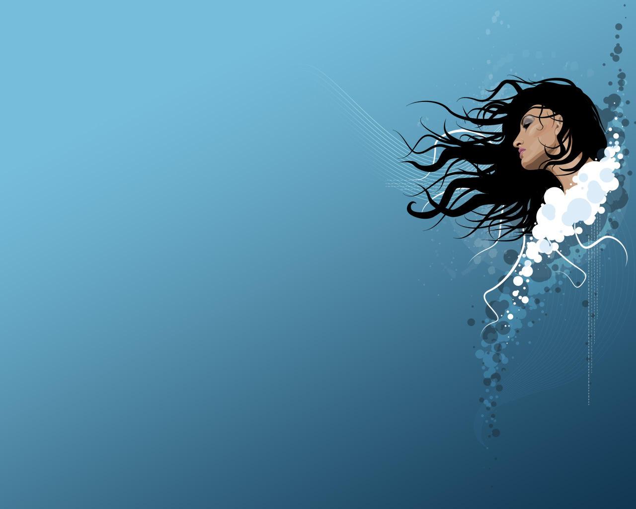-Daydream in Blue- Wallpaper by xluluhimex