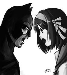 Batman vs God by knighthead
