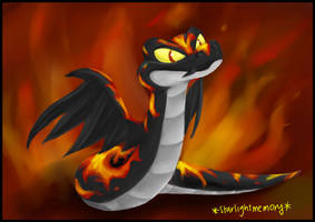 Fire Burning Hissi by starlightmemory