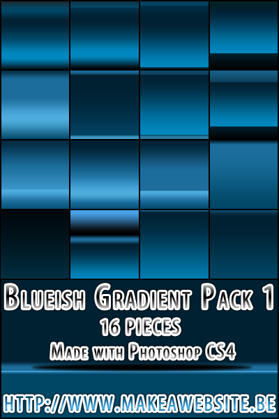Blueish Gradient Pack1 by Rizl4