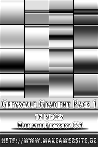 Greyscale Gradient Pack1 by Rizl4