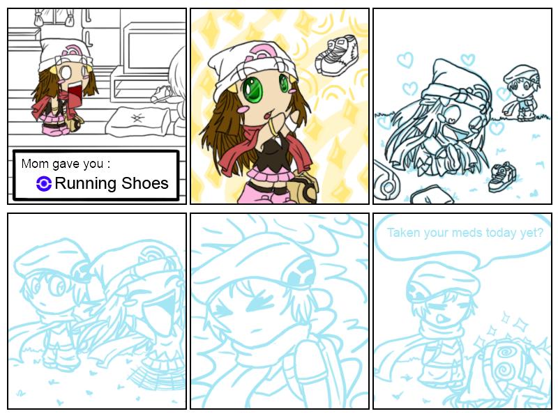 Run Shoes Pokemon Gold