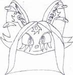 Shira face/avatar (uncoloured)