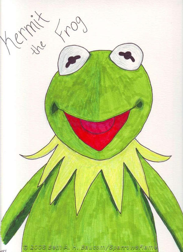 Giftart.:Kermit the Frog:. by SparrowsFlame