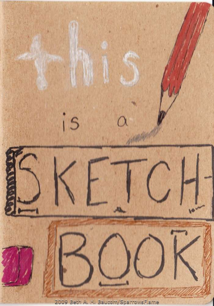 Sketch Book Cover ~ Sketchbook project front cover by sparrowsflame on