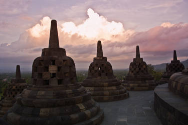 Sunset at Borobodur by 4pm