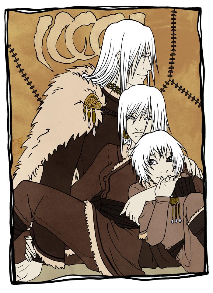 Silver Fangs siblings by Rakiah
