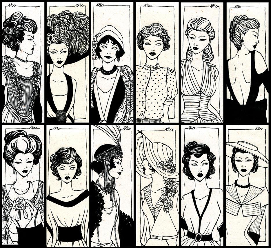 Ghostly women of Fashion Time by Rakiah