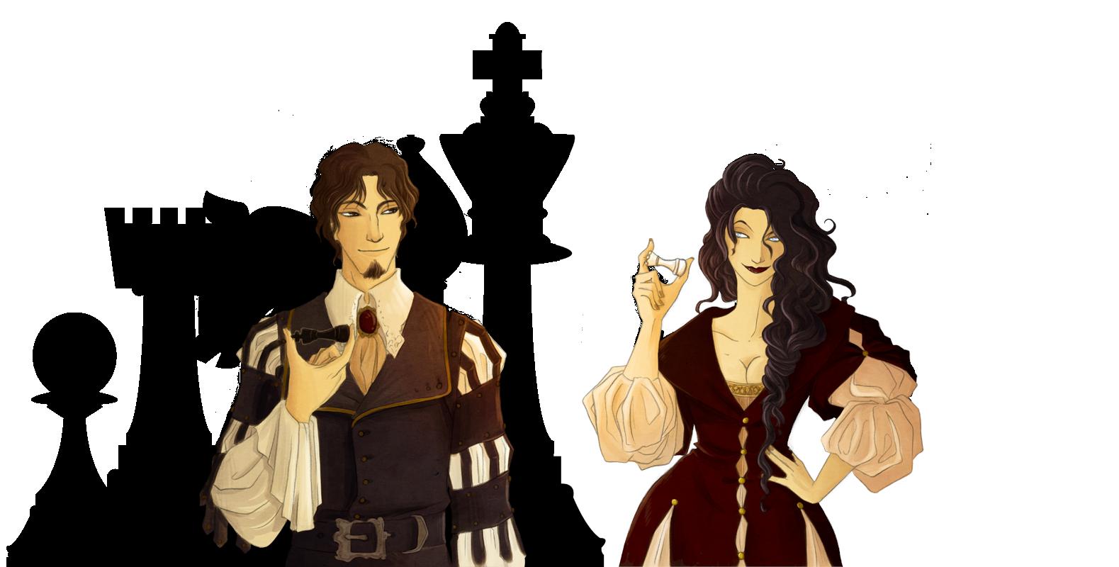 Re nero e Regina bianca by Rakiah