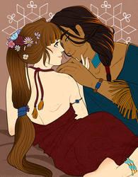 Commission - Lovebirds by Rakiah