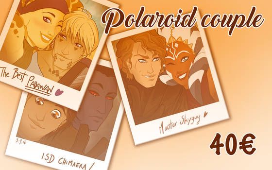 June Special Commissions : Polaroid couple !