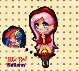 Little Red Fluttershy by Elheartlime