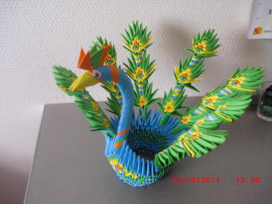 3d Origami Peacock Hartosnacom 3D Pinterest 900x675 How