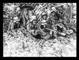 Trench Warfare by constantdoodler