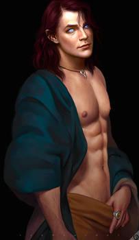 Ezra Shirtless Pinup