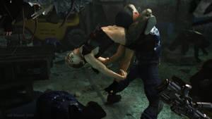 Adam back in his youth choking Guard