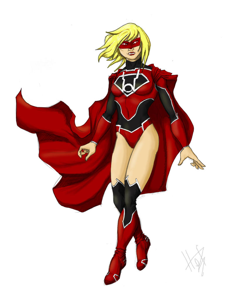 Supergirl Red Lantern By FabianHofmann