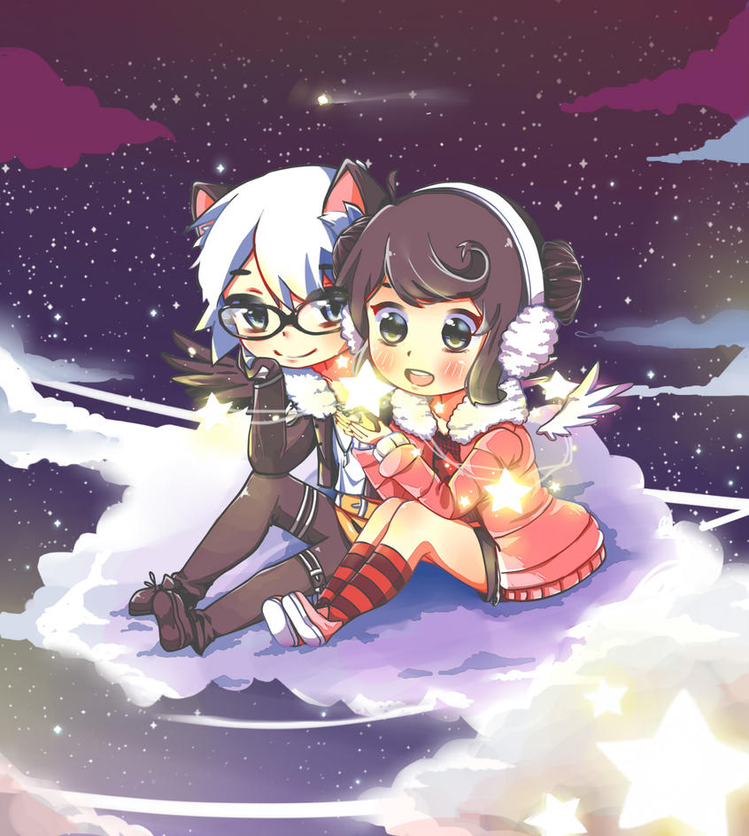 Shine Bright ( Miber + Kuroi-chan ) by Churaga