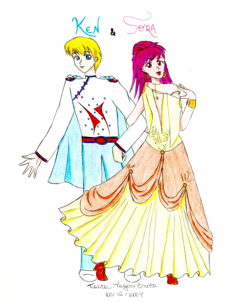 Ken and Sora - Kaleidostar by talitapagani