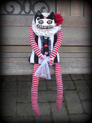 Mary Stripes  ...  freaky doll .. puppet by S-T-A-R-gazer