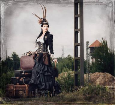 Train to nowhere ....   steampunk by S-T-A-R-gazer