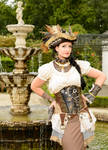 Stock - Steampunk pirat woman portrait