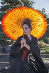 Stock - Dark Geisha .. gothic style umbrella 2