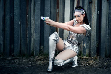 Spacegirl with her gun by S-T-A-R-gazer