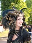 Stock - Vampire Queen gold and black Horns 4