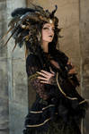 Stock - Black  gold Vampire Queen Faun Demon 26