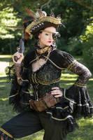 Steampunk pirate posing by S-T-A-R-gazer