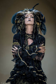 Stock - Black and gold Vampire Queen Faun Demon 43