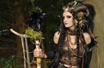 Stock - Faun Shaman Portrait Fantasy Female Dark 1