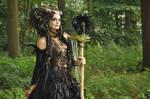 Stock - Faun Shaman Portrait Fantasy Female Dark 2