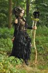 Stock - Faun Shaman Portrait Fantasy Female Dark 3