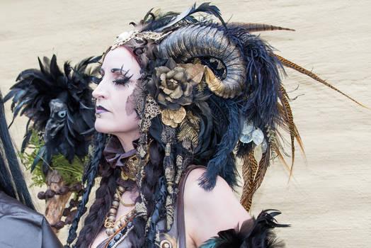 Stock - Faun Portrait Fantasy Female sidevjew 1