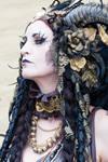 Stock - Faun Portrait Fantasy Female sideview 2