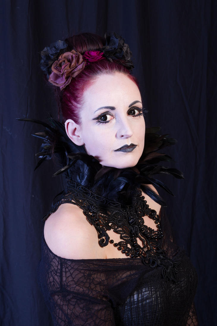 Stock - Gothic feather collar by S-T-A-R-gazer