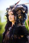Stock - Dark Faun gothic Portrait Fantasy 2