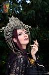 Stock - Vampire dark gothic woman 4